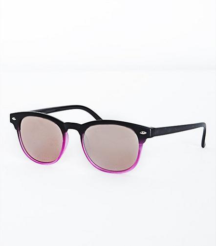 Schwarz-Lila Sonnenbrille